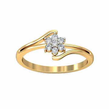18kt Yellow Gold Real Diamond Engagement Ring