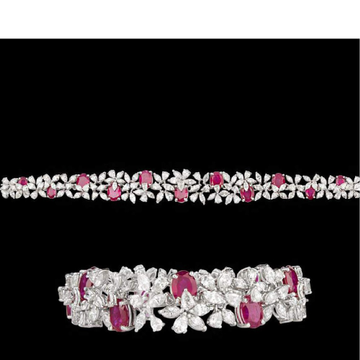 Diamonds and Ruby BraceletJSJ0156