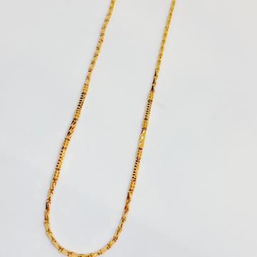 916 Gold Chain by Ghunghru Jewellers