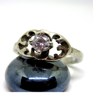 925 silver single stone ring sr925-45