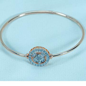 916 gold diamond heart Bracelet lb1-510 by