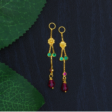 22K Single Line Gold Latkan For Earrings JJ-009
