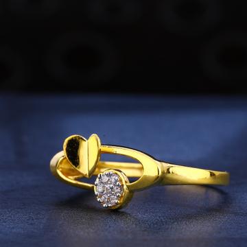 916 gold cz delicate ladies ring lr577