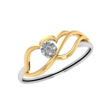 22Kt Gold Designer Diamond Ring JJ-R04 by