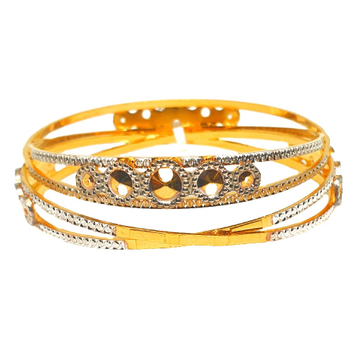 One gram gold plated fancy bangles mga - bge0279
