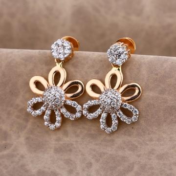 18 carat rose gold stylish ladies earrings RH-LE59...