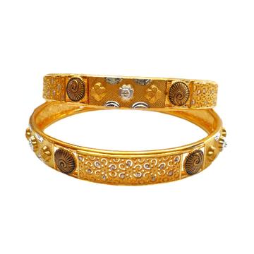 22K Gold Designer Kadli Bangles MGA - GK0073