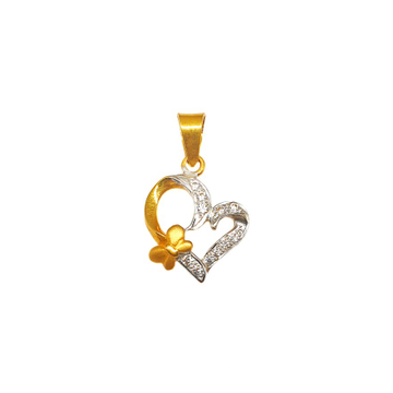 22K Gold Heart Shaped Modern Pendant MGA - PDG0065