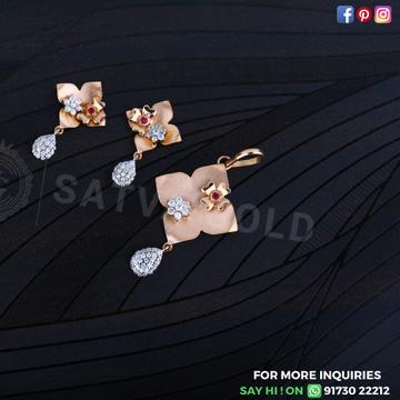 76 rose gold pendant set sgp-0010