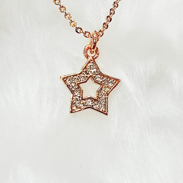 delicate dimond pendent with delicate chain by J.H. Fashion Jewellery