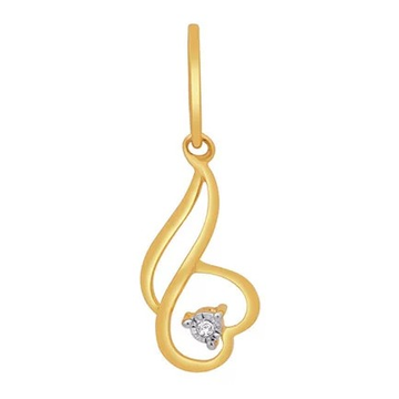 18k gold real diamond fancy pendant mga - rp0037