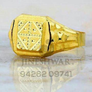 Gold Brighner Plain Gents Ring