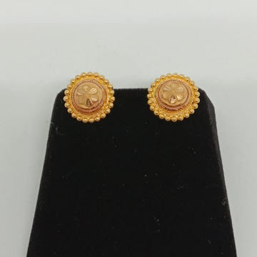 22KT Gold Flower Shape Earring MJ-E012