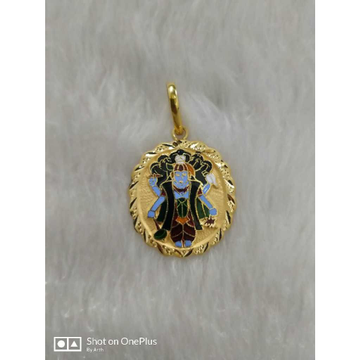 Gold vishnu pendant