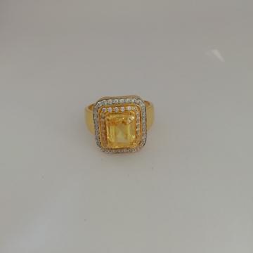 916 gold yellow diamond Gents ring by Vinayak Gold