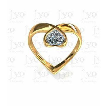 22KT Gold Hallmarked Heart Shaped Ring
