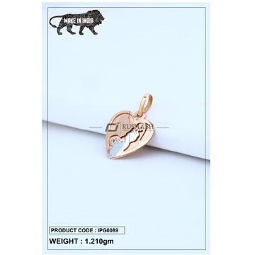 18 Carat Italian pendent rose gold heart shape ipg0089