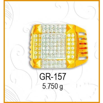 916 gold Fancy CZ Diamond Gents Ring GR-157