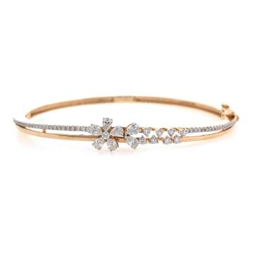 Belle diamond bracelet in rose gold 9brc14