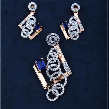 18Kt Rose Gold Calssic Pendal Butti Set RH-18RGPSET04