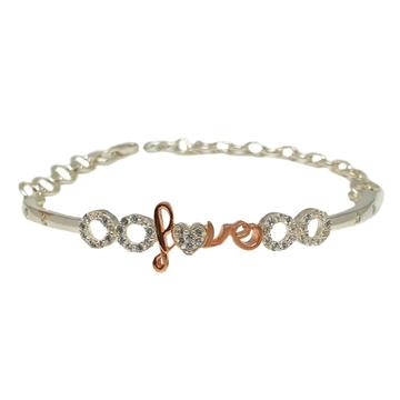 925 Sterling Silver Designer Love Bracelet MGA - BRS1817