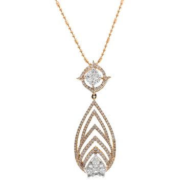 Novus Diamond Pendant in Rose Gold 7SHP39