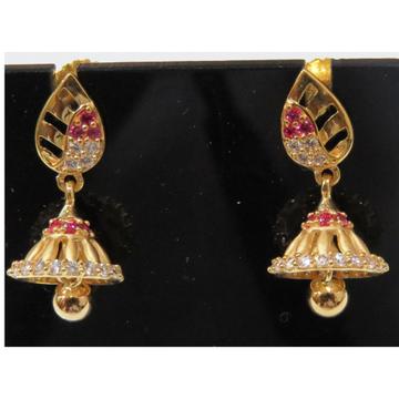 22kt gold cz casting fancy earrings jumkie