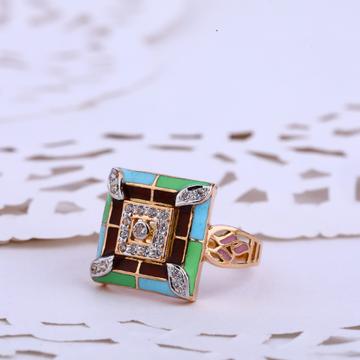 18CT Rose Gold cz Stylish Ladies ring RLR569