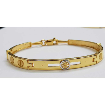 22k Gents Fancy Gold Kada G-3455