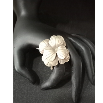 925 Silver Rose Design Ring LJS 001