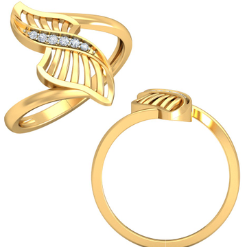 22KT Yellow Gold Addison Ring For Women