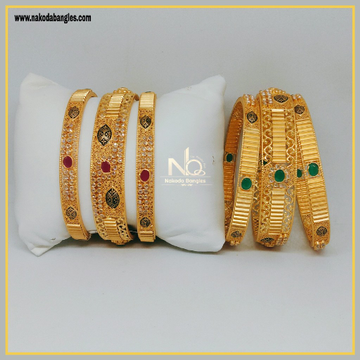 916 Gold Patla Bangles NB-297