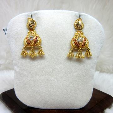 Gold Culcutti Fancy Earring by