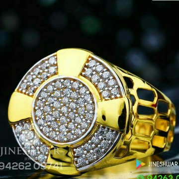 Fancy Cz Gents Ring
