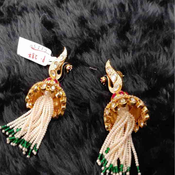 Peacock Design Diamond Earring