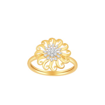 18k gold real diamond ring by