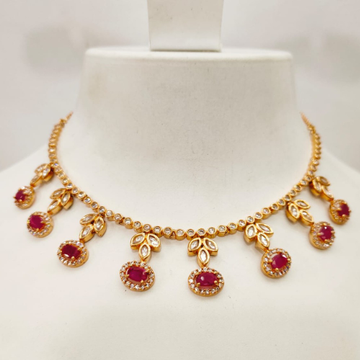 Choker kundan work with ruby stone necklace set 1432