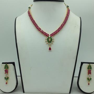 Multicolour CZ Stones Necklace Set JNC0171