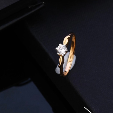 18KT Rose Gold Beautiful Small Design Hallmark Ring by Gharena Jewellers