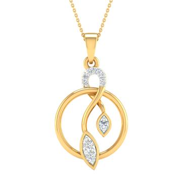 Branded fancy real diamond pendant by