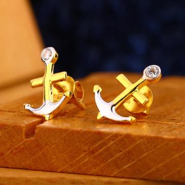916 gold mens delicate earrings me 20