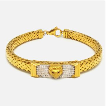 916 Gold Rajwadi Bracelet For Gents