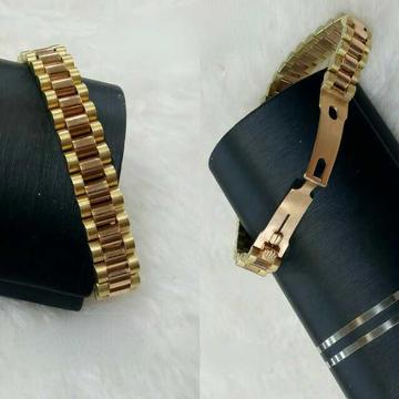 18k Gents Fancy Gold Watch Belt G-10455