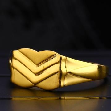 22 cart gold classical hallmark gents rings RH-GR624