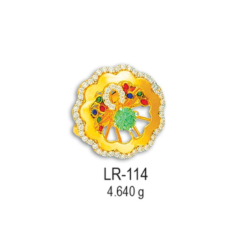 916-CZ-Gold-Flower-Design-Ladies-Ring-LR-104