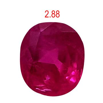 2.88ct oval pink ruby-manek