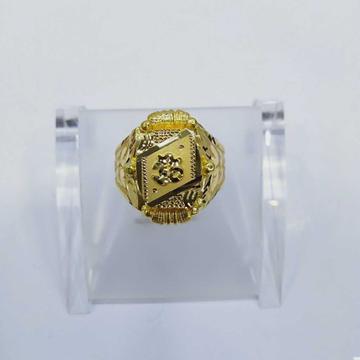 760 Gold Fancy Om Ring RJ-066