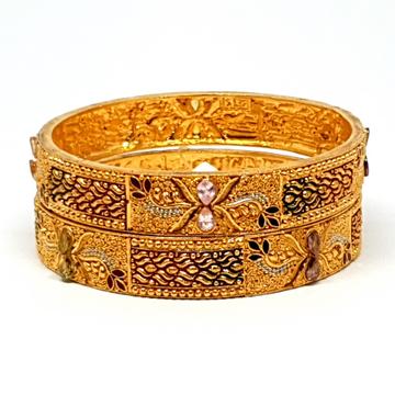 One gram Gold Forming kalkati kada bangles mga - bge0088