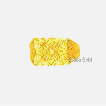 916 Indian Gold Designer CZ Gents Ring