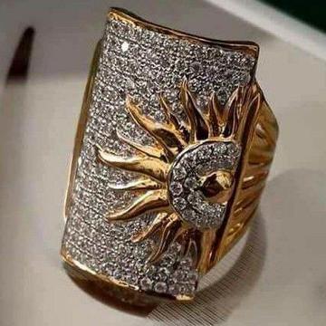 22KT Gold Fancy Surya Gents Ring